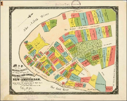 New Amsterdam (Old New York) Map